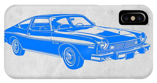 American iPhone Case - Blue Muscle Car by Naxart Studio