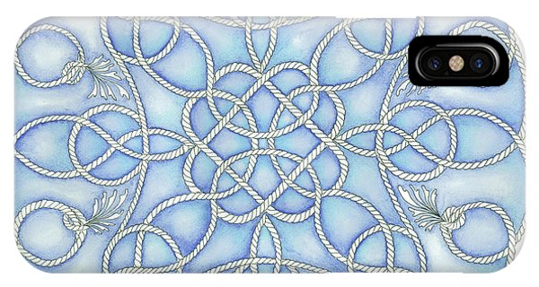 Blue Nautical Mandala 2 IPhone Case