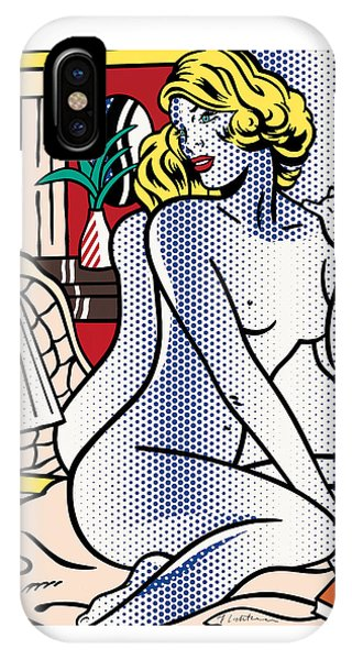 Blue Nude - Pop Art - Roy Lichtenstein IPhone Case