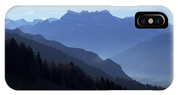 Blue On Blue-- Les Dents Du Midi  IPhone Case