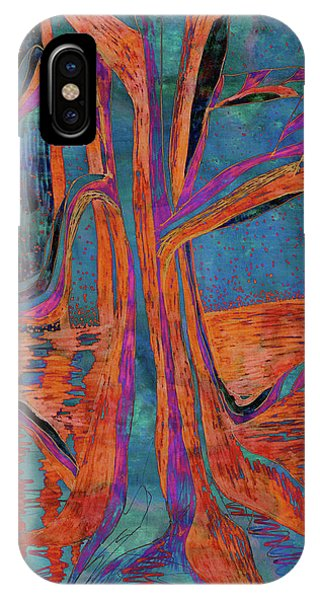 Blue-orange Warm Dusk River Tree IPhone Case