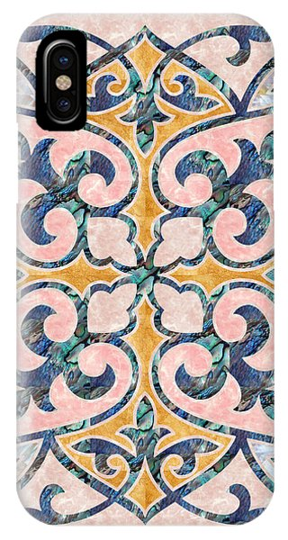 Blue Oriental Tile 01 IPhone Case