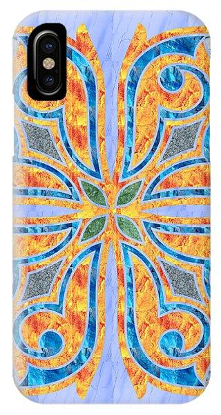 Blue Oriental Tile 02 IPhone Case