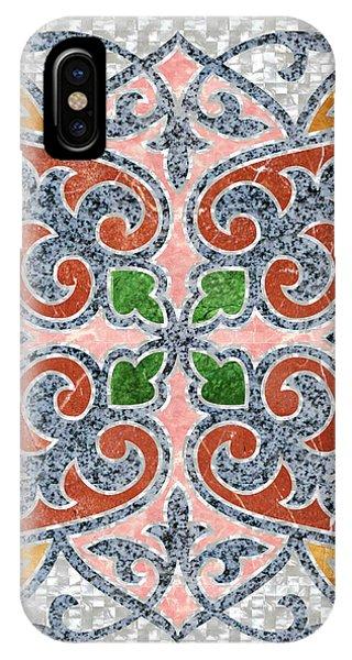 Blue Oriental Tile 03 IPhone Case