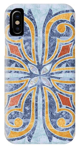 Blue Oriental Tile 04 IPhone Case