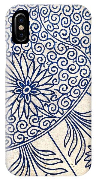 Blue Oriental Vintage Tile 01 IPhone Case