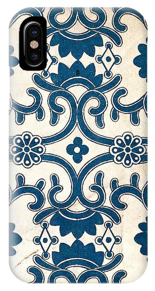 Blue Oriental Vintage Tile 02 IPhone Case