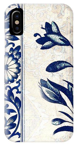 Blue Oriental Vintage Tile 03 IPhone Case