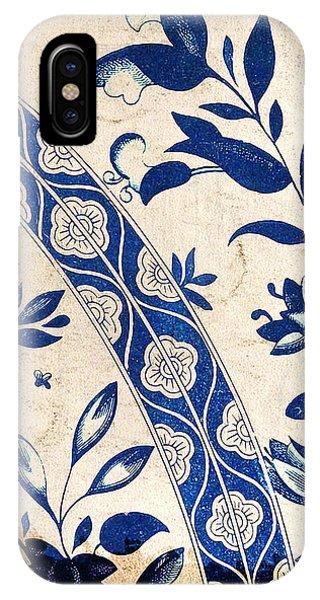 Blue Oriental Vintage Tile 04 IPhone Case