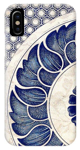 Blue Oriental Vintage Tile 05 IPhone Case
