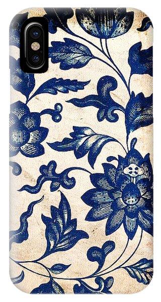Blue Oriental Vintage Tile 06 IPhone Case