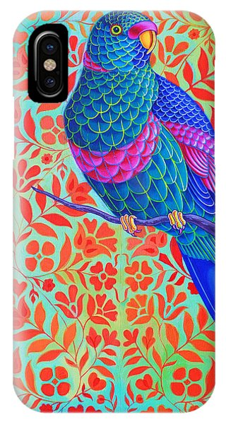 Macaw iPhone Case - Blue Parrot by Jane Tattersfield