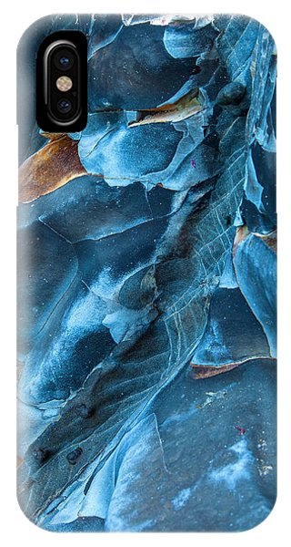 Abstract Landscape iPhone Case - Blue Pattern 1 by Jonathan Nguyen