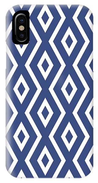 Square iPhone Case - Blue Pattern by Christina Rollo