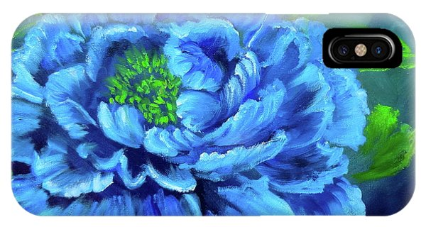 Blue Peony Jenny Lee Discount IPhone Case