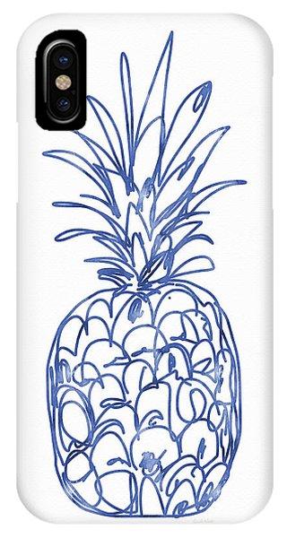 Simple iPhone Case - Blue Pineapple- Art By Linda Woods by Linda Woods