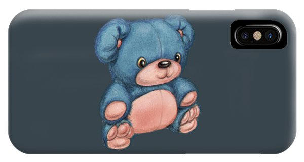 Blue Pink Bear IPhone Case