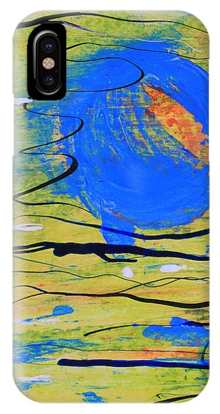 Blue Planet Abstract IPhone Case