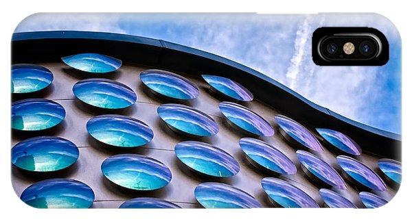 Blue Polka-dot Wave IPhone Case