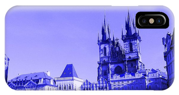 IPhone Case featuring the photograph Blue Praha by Michelle Dallocchio
