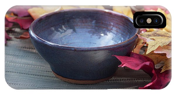 Hand Thrown Pottery iPhone Case - Blue Purple Bowl  by Suzanne Gaff