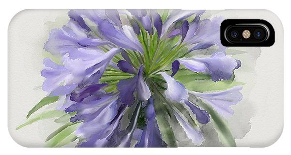 IPhone Case featuring the painting Blue Purple Flowers by Ivana Westin