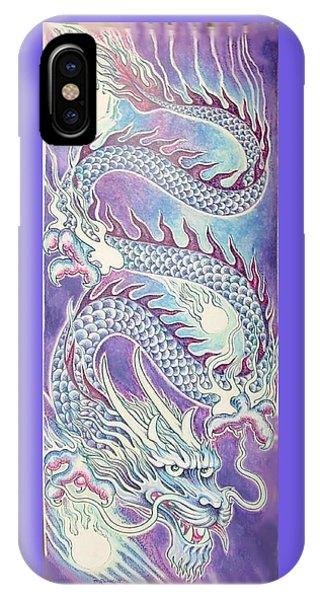 iPhone Case - Blue Purple Japanese Dragon by Jacki Randall