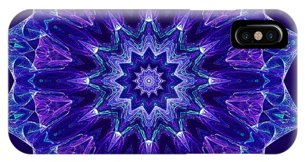 Blue And Purple Mandala Fractal IPhone Case