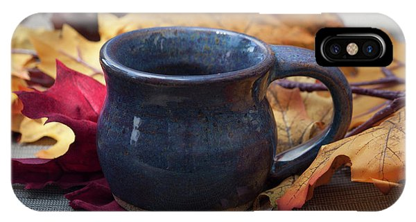 Hand Thrown Pottery iPhone Case - Blue Purple Mug by Suzanne Gaff