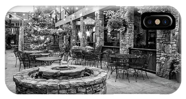Blue Ridge Courtyard In Black And White IPhone Case