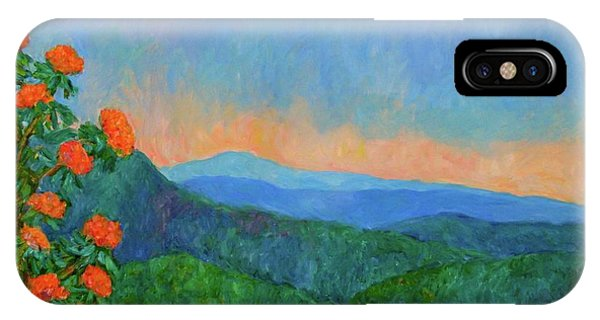 IPhone Case featuring the painting Blue Ridge Morning by Kendall Kessler