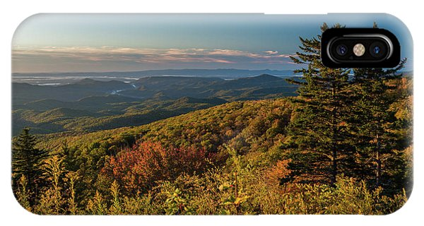 Blue Ridge Mountain Autumn Vista IPhone Case