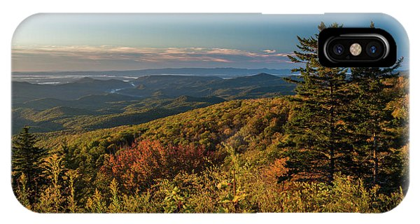 Blue Ridge Mountain Autumn Vista IPhone Case