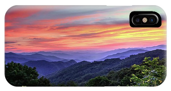 Appalachian Mountains iPhone Case - Blue Ridge Mountain Color by Carol Montoya