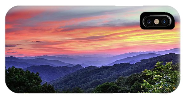 Blue Ridge Mountain Color IPhone Case