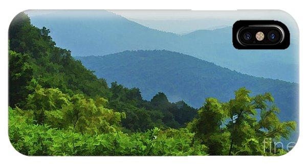 Blue Ridge Mountain Layers IPhone Case