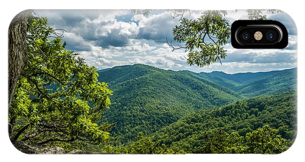 Blue Ridge Mountain View IPhone Case