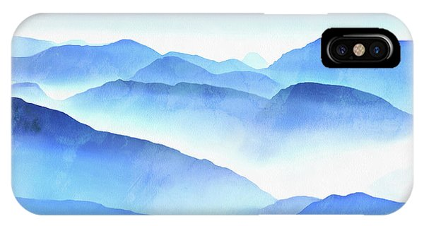 Blue iPhone Case - Blue Ridge Mountains by Edward Fielding