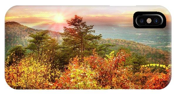 Chilhowee iPhone Case - Blue Ridge Mountains In Autumn by Debra and Dave Vanderlaan