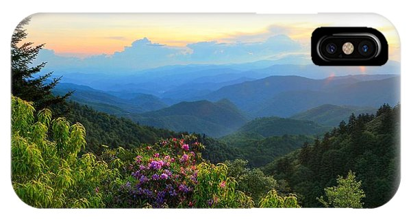 Blue Ridge Parkway And Rhododendron  IPhone Case