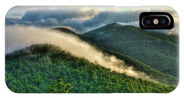 Blue Ridge Parkway Cloud Waves At Sunrise IPhone Case