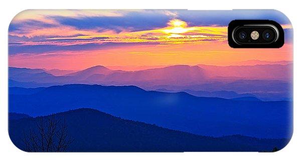Blue Ridge Parkway Sunset, Va IPhone Case