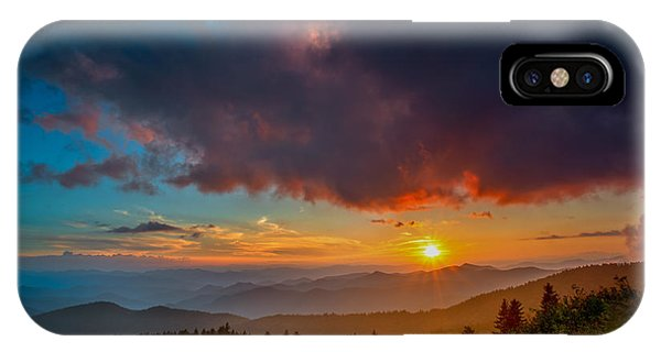 IPhone Case featuring the photograph Blue Ridge Sunset by Joye Ardyn Durham