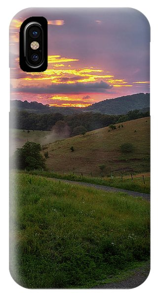 Blue Ridge Sunset IPhone Case