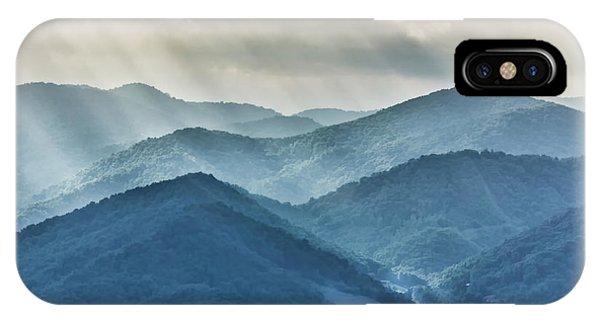 Blue Ridge Sunset Rays IPhone Case