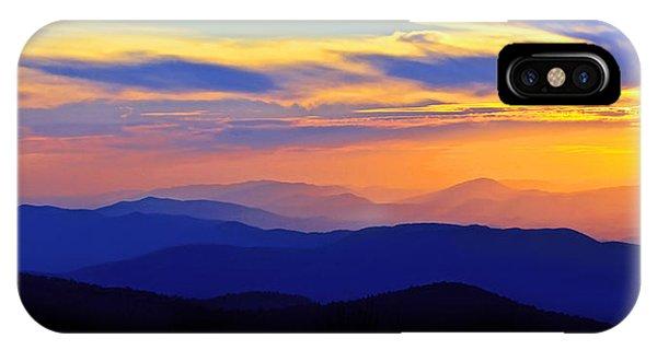 Blue Ridge Sunset, Virginia IPhone Case