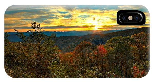Blue Ridge Sunsets IPhone Case