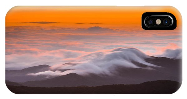 Blue Ridge Valley Of Clouds IPhone Case