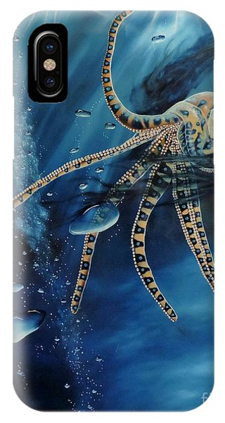 Blue Ring Octopus IPhone Case