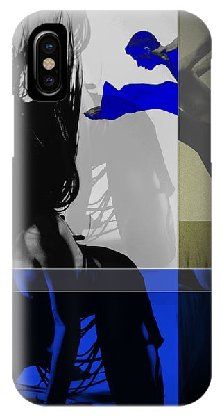 Ballerina iPhone Case - Blue Romance by Naxart Studio